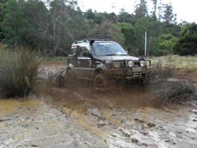 Jimny in the Mud