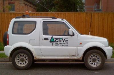 One of the 40 odd fleet of Active Tree Service's Jimnys